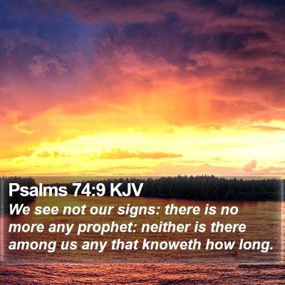Psalms 74:9 KJV Bible Verse Image