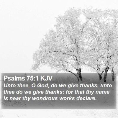 Psalms 75:1 KJV Bible Verse Image