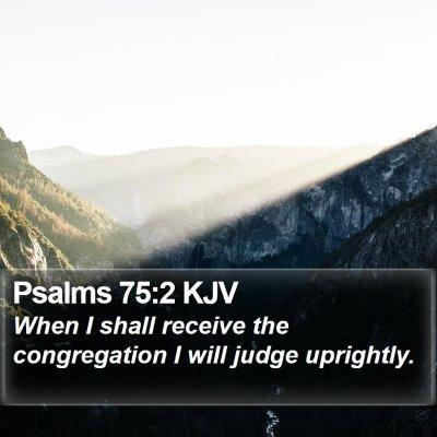Psalms 75:2 KJV Bible Verse Image