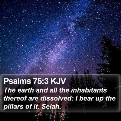 Psalms 75:3 KJV Bible Verse Image