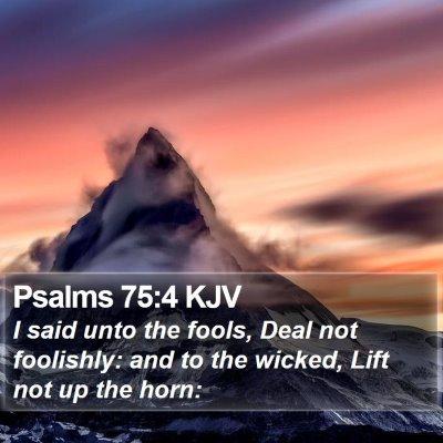 Psalms 75:4 KJV Bible Verse Image