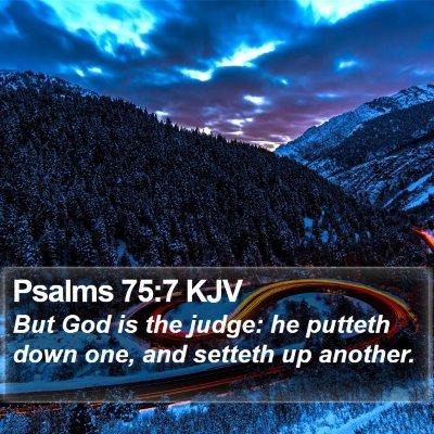 Psalms 75:7 KJV Bible Verse Image