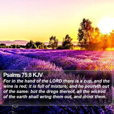 Psalms 75:8 KJV Bible Verse Image