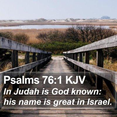 Psalms 76:1 KJV Bible Verse Image