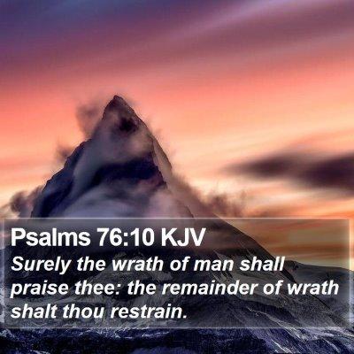Psalms 76:10 KJV Bible Verse Image