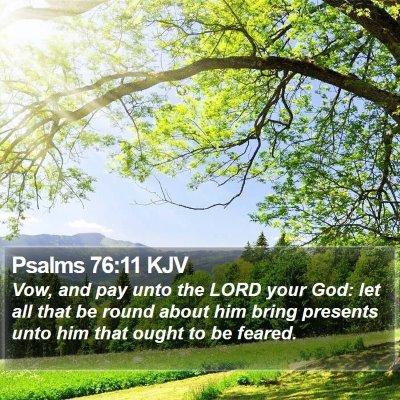 Psalms 76:11 KJV Bible Verse Image
