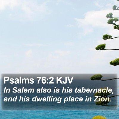 Psalms 76:2 KJV Bible Verse Image