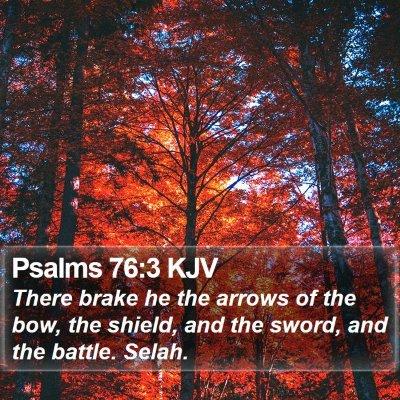 Psalms 76:3 KJV Bible Verse Image