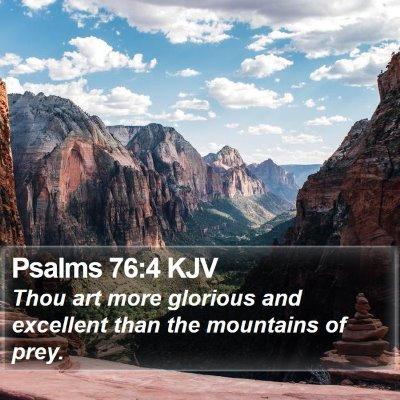 Psalms 76:4 KJV Bible Verse Image