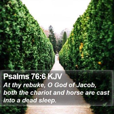 Psalms 76:6 KJV Bible Verse Image