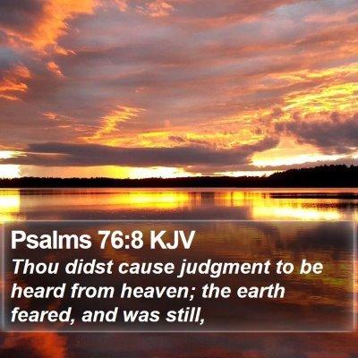 Psalms 76:8 KJV Bible Verse Image