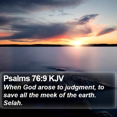 Psalms 76:9 KJV Bible Verse Image