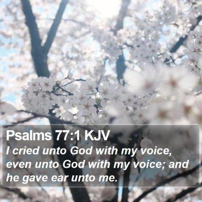 Psalms 77:1 KJV Bible Verse Image