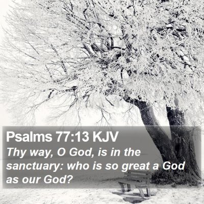 Psalms 77:13 KJV Bible Verse Image