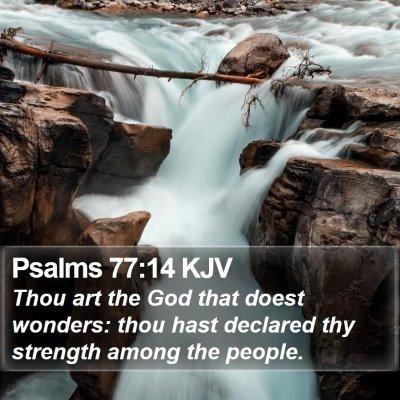 Psalms 77:14 KJV Bible Verse Image