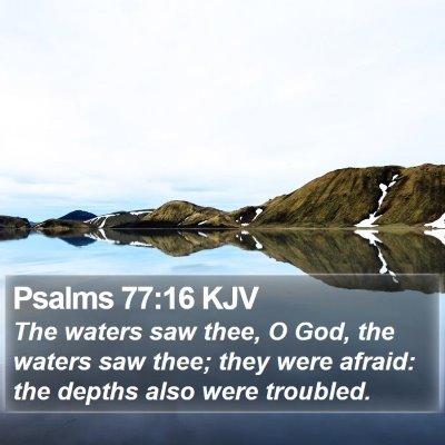 Psalms 77:16 KJV Bible Verse Image