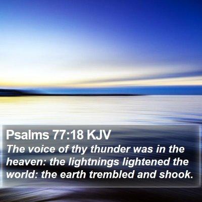 Psalms 77:18 KJV Bible Verse Image