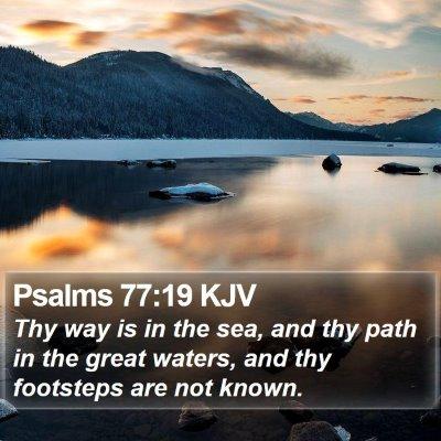 Psalms 77:19 KJV Bible Verse Image