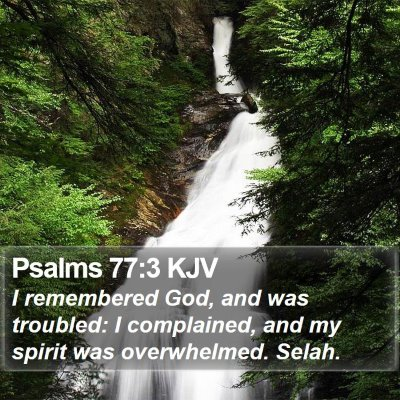 Psalms 77:3 KJV Bible Verse Image