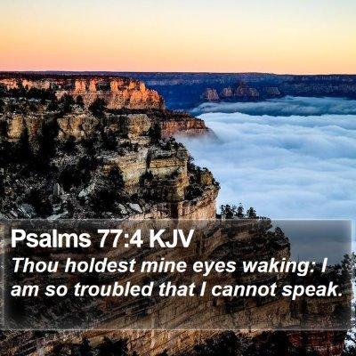 Psalms 77:4 KJV Bible Verse Image