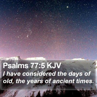 Psalms 77:5 KJV Bible Verse Image