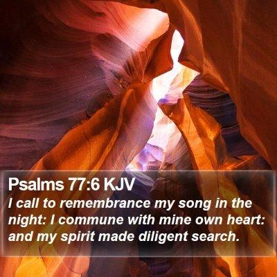 Psalms 77:6 KJV Bible Verse Image