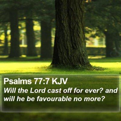 Psalms 77:7 KJV Bible Verse Image