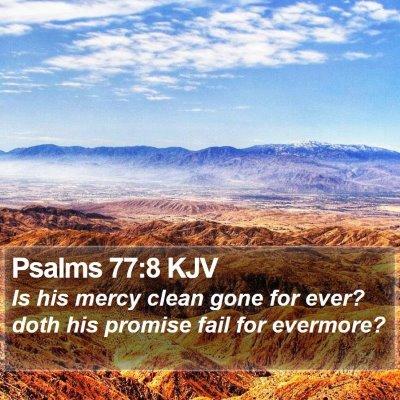 Psalms 77:8 KJV Bible Verse Image