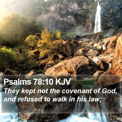 Psalms 78:10 KJV Bible Verse Image