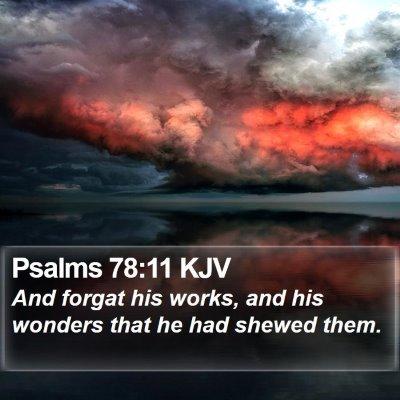 Psalms 78:11 KJV Bible Verse Image