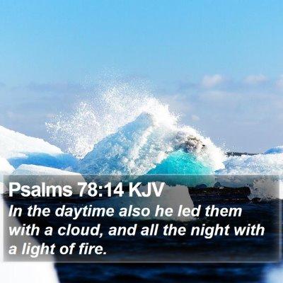 Psalms 78:14 KJV Bible Verse Image