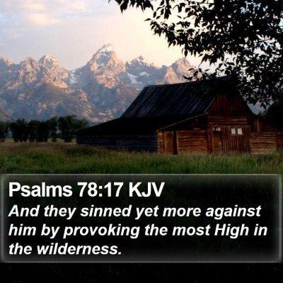 Psalms 78:17 KJV Bible Verse Image