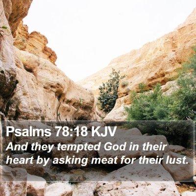 Psalms 78:18 KJV Bible Verse Image