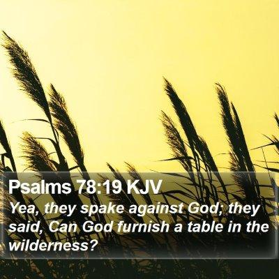 Psalms 78:19 KJV Bible Verse Image