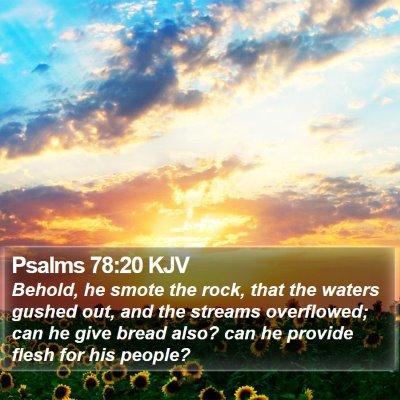 Psalms 78:20 KJV Bible Verse Image