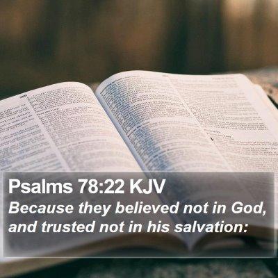 Psalms 78:22 KJV Bible Verse Image