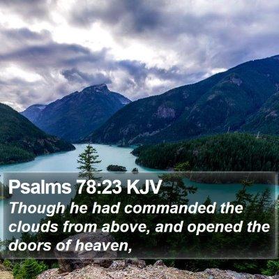 Psalms 78:23 KJV Bible Verse Image