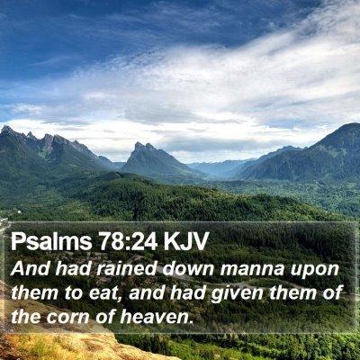 Psalms 78:24 KJV Bible Verse Image