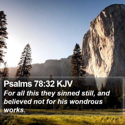 Psalms 78:32 KJV Bible Verse Image
