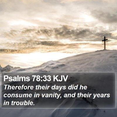 Psalms 78:33 KJV Bible Verse Image