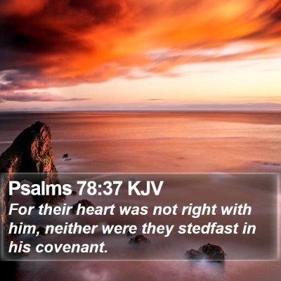Psalms 78:37 KJV Bible Verse Image