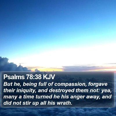 Psalms 78:38 KJV Bible Verse Image