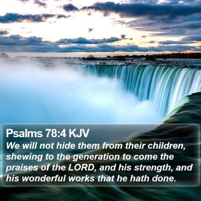 Psalms 78:4 KJV Bible Verse Image