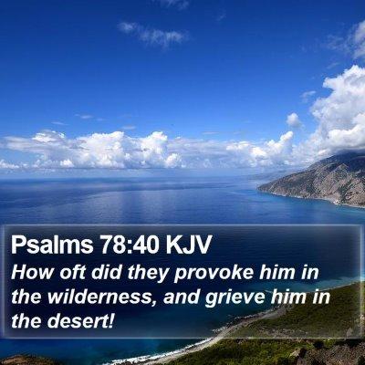 Psalms 78:40 KJV Bible Verse Image