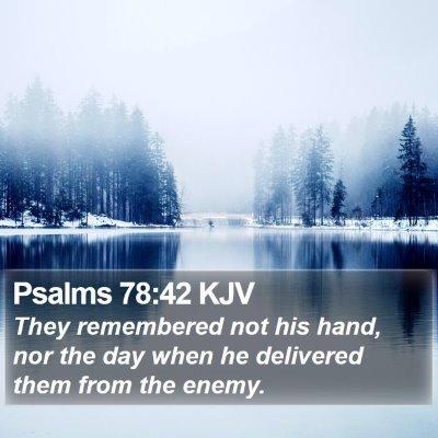 Psalms 78:42 KJV Bible Verse Image