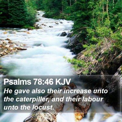Psalms 78:46 KJV Bible Verse Image