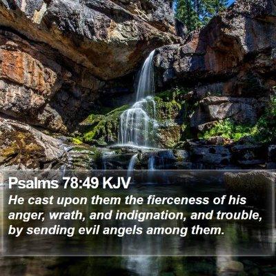Psalms 78:49 KJV Bible Verse Image