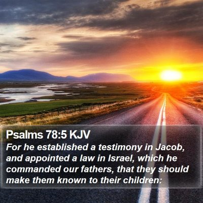 Psalms 78:5 KJV Bible Verse Image