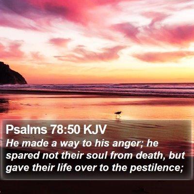 Psalms 78:50 KJV Bible Verse Image