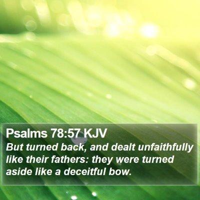 Psalms 78:57 KJV Bible Verse Image